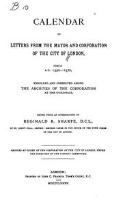 Calendar of letters from the mayor and Corporation of the City of London PDF