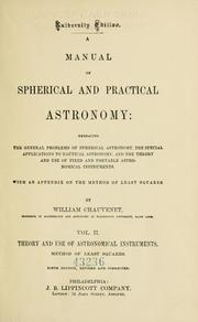 AManual of Spherical and Practical Astronomy