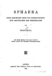 Sphaera by Franz Johannes Boll