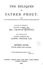 The reliques of Father Prout by Francis Mahony