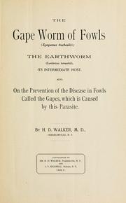 The gape worm of fowls (Syngamus trachealis)