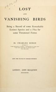 Lost and vanishing birds by Dixon, Charles