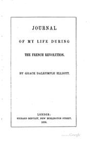Journal of my life during the French revolution PDF