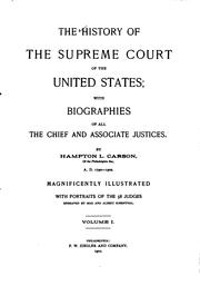 The history of the Supreme Court of the United States PDF