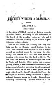 The Nile without a dragoman by Frederic Eden