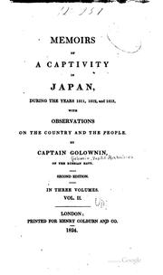 Memoirs of a captivity in Japan, during the years 1811, 1812, and 1813 PDF