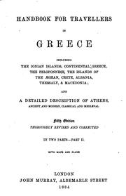 Cover of: Handbook for travellers in Greece by John Murray (Firm)