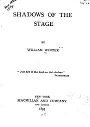 Shadows of the stage by Winter, William