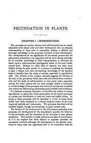 Fecundation in plants by Mottier, David Myers