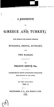 A residence in Greece and Turkey PDF