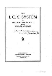 The I.C.S. system of instruction by mail and the results achieved PDF