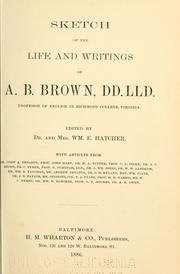 Sketch of the life and writings of A. B. Brown PDF