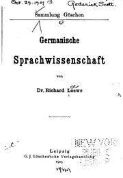 Germanische Sprachwissenschaft by Richard Loewe