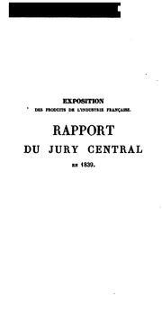 Rapport du Jury central .. PDF