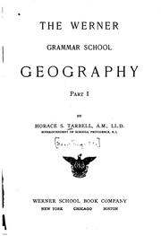 The Werner grammar school geography by H. S. Tarbell