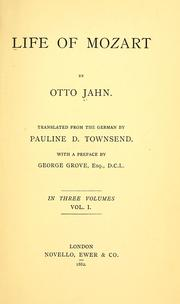 Cover of: Life of Mozart by Otto Jahn