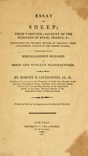 Essay on sheep by Robert R. Livingston