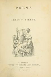 Poems by James Thomas Fields