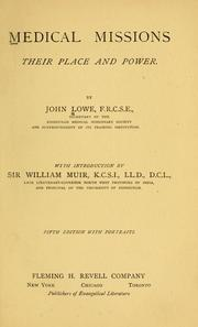 Medical missions by Lowe, John