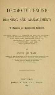 Locomotive engine running and management by Sinclair, Angus