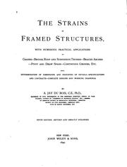 The strains in framed structures by Du Bois, A. Jay