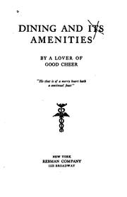Dining and its amenities PDF
