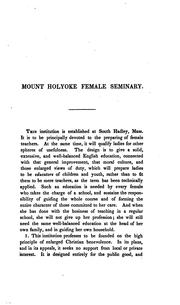 General view of the principles and design of the Mount Holyoke Female Seminary PDF
