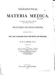 Therapeutical materia medica by H. C. Jessen