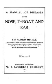 A manual of diseases of the nose, throat, and ear PDF