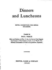 Dinners and luncheons PDF