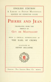 Pierre et Jean by Guy de Maupassant