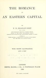 Cover of: The romance of an eastern capital by F. B. Bradley-Birt