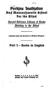 Special reference library of books relating to the blind PDF