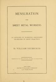 Mensuration for sheet metal workers PDF