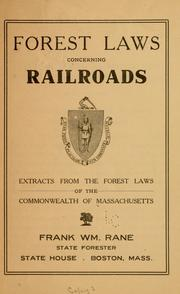 Forest laws concerning railroads PDF