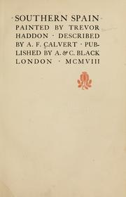 Cover of: Southern Spain by Calvert, Albert Frederick
