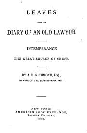 Leaves from the diary of an old lawyer PDF