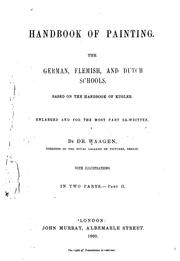 Handbook of painting by Kugler, Franz
