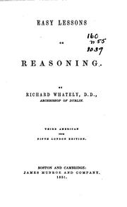 Easy lessons on reasoning by Richard Whately