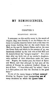 My Reminiscences by Gower, Ronald Sutherland Lord