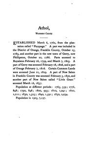 Vital records of Athol, Massachusetts PDF