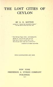 The Lost Cities of Ceylon PDF