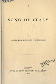 A song of Italy by Swinburne, Algernon Charles