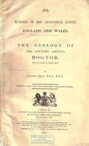 The geology of the country around Bognor PDF