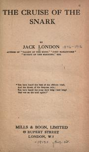 Cover of: The cruise of the &quot;Snark&quot; by Jack London