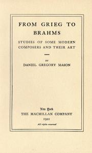 From Grieg to Brahms by Mason, Daniel Gregory