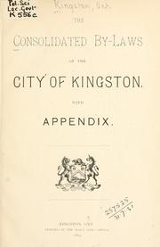 Laws, etc by Kingston (Ont.)