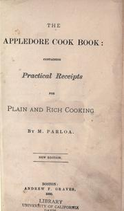 Cover of: The Appledore cook book by Maria Parloa