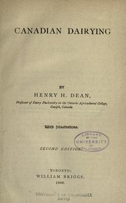 Canadian dairying by H. H. Dean