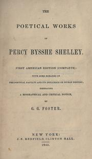 Cover of: The poetical works of Percy Bysshe Shelley by Percy Bysshe Shelley